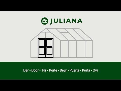 Montage af dør i Juliana-drivhus