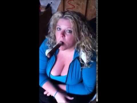 Fat woman smoking big cigar P.S. (i am not her).