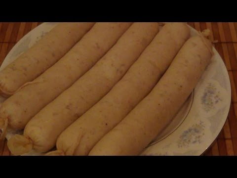 Колбаса варёная куриная любительская высшего сорта.