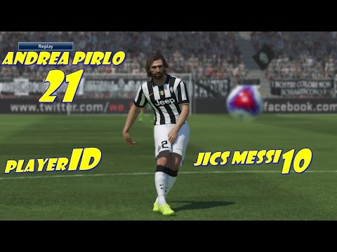Pes 15 Demo: Andrea Pirlo Player ID#Jics Messi10#
