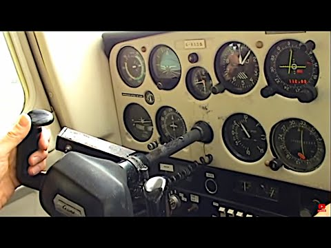 Cessna 152 cockpit: flight training (start-up, taxi, take-off, climb)