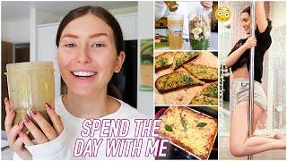 SPEND THE DAY WITH ME - Pole Dancing, Vegan Lasagne & More tehe   Hannah Renée