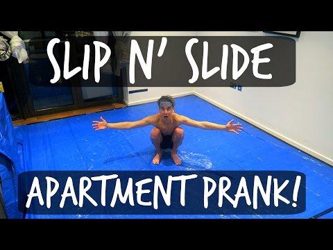 SLIP 'N' SLIDE APARTMENT PRANK!