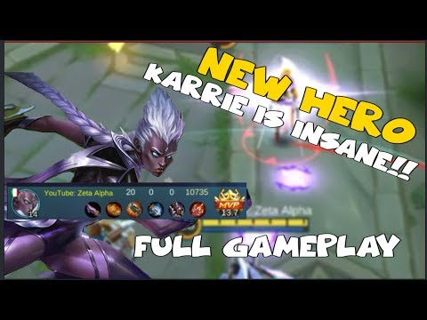 NEW HERO KARRIE GAMEPLAY | INSANE ATTACK SPEED (Mobile Legends)