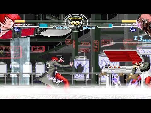 MUGEN - Iori Yagami vs. Orochi Iori (Both by Zelgadis)
