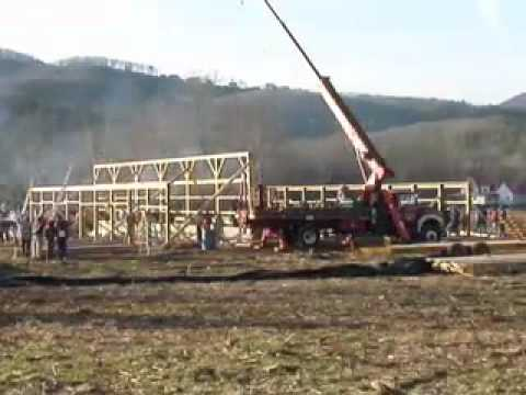 Amish Barn Raising Video