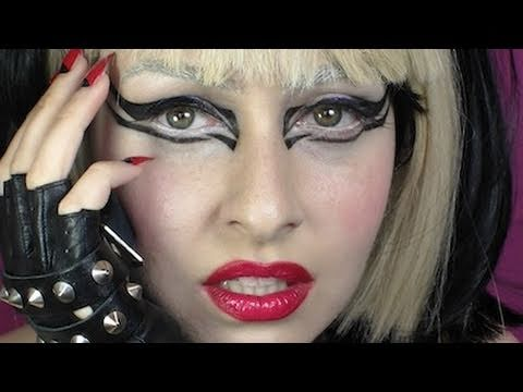 A bold monster lady gaga makeup look inspired by Lady Gaga's makeup in her Edge of Glory music video. For all little monsters, its truly a vision in bold bla...
