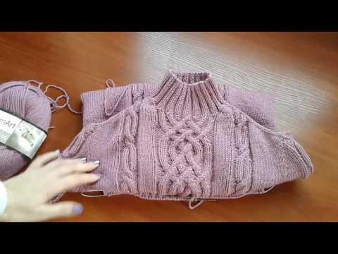 Метод непрерывного вязания спицами свитеров