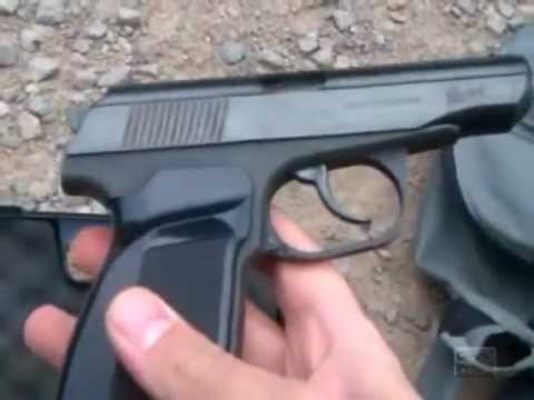 BAIKAL MAKAROV MP-654K 4.5mm BB CO2 Gas Gun Review and Field Strip.