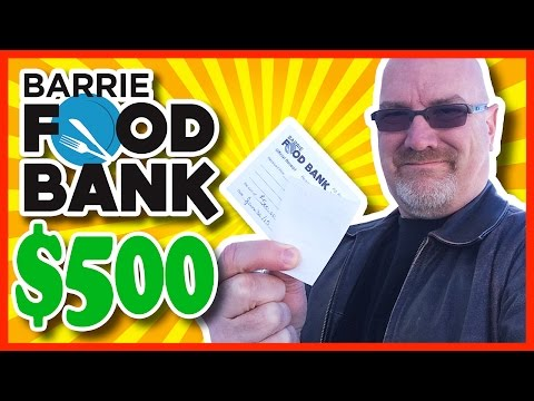$500.00 to The Food Bank - Special Shout Outs