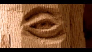 Woodcarving Detailed Eye in Sycamore (london planetree) medium hard wood.