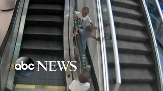 Details of tragic escalator accident emerge after mom's arrest