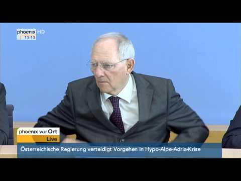 Bundeshaushalt 2016: PK mit Wolfgang Schäuble und Sigmar Gabriel am 18.03.2015
