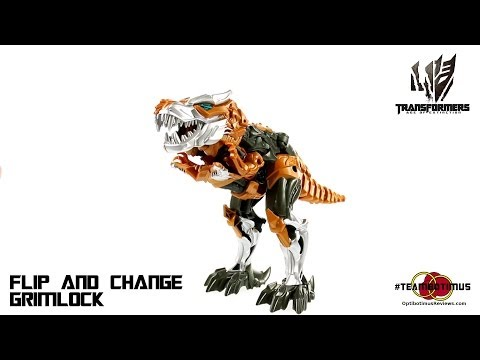 Video Review of the Transformers Age of Extinction: Flip and Change Grimlock