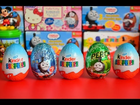 Kinder Surprise Thomas and Friends Surprise Eggs Percy Chocolate Eggs  托马斯&朋友 Trains AMAZING !!
