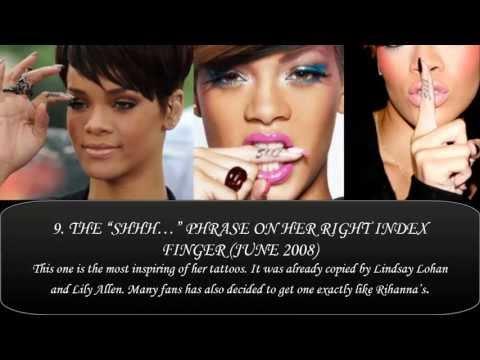 Rihanna's Tattoos & Tattoos Meanings