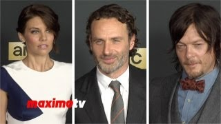 """The Walking Dead"" Season 4 Premiere Andrew Lincoln, Lsuren Cohan, Norman Reedus, Emily Kinney"