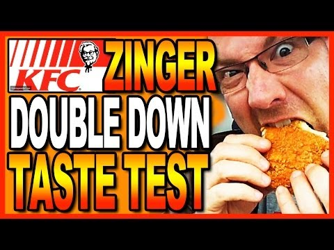 KFC Zinger Double Down Taste Test