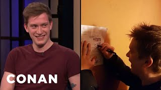 A Fan Asked Daniel Sloss To Sign Their Divorce Papers - CONAN on TBS