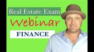 Financing: Real Estate Exam Questions & Explanations Webinar
