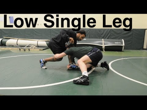Low Single Leg Takedown: Basic Wrestling Techniques and Moves For Beginners Image 1