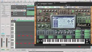 [Logic Pro 9] Tutorial Sylenth1: Christian Marchi - Love Sex American Express Bass