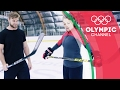 Ice Hockey Champion vs Fitness YouTuber - Buff Dude Tries an Olympian's Workout | Hitting the Wall