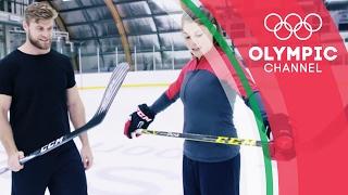 Ice Hockey Champion vs Fitness YouTuber - Buff Dude Tries an Olympian