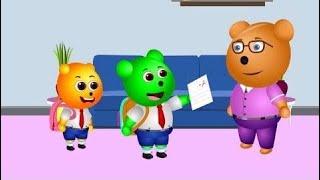Gummy Bear Adventures | Baby got grade card | Children's Cartoons & Nursery Rhymes for Kids