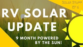 Tesla RV Solar System update - 9 months of fully powered by the sun!