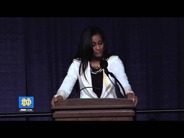 Skylar Diggins Senior Speech - Notre Dame Women's Basketball