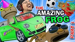 BEST GAME EVER!  The Amazing Frog that Farts Part 1 w/ FGTEEV Duddy (I Stole a Cop!) HA HA HA
