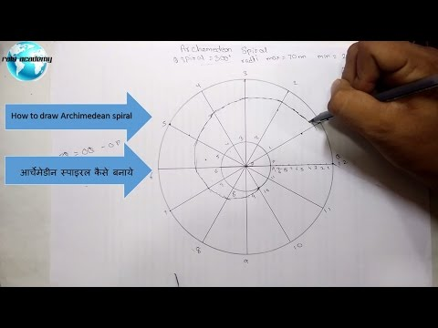[hindi] how to draw Archimedean Spiral