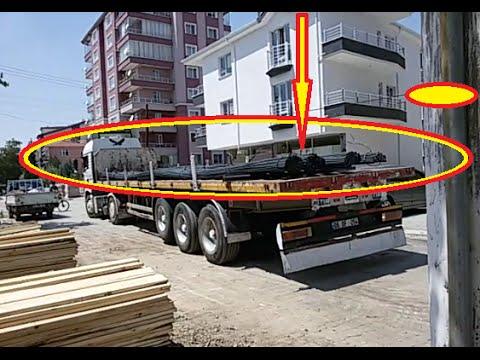 İNŞAAT DEMİRİ NASIL BOŞALTILIR TIR,KAMYON ,CONSTRUCTION STEEL HOW TR, TRUCK AND TRANSPORT...