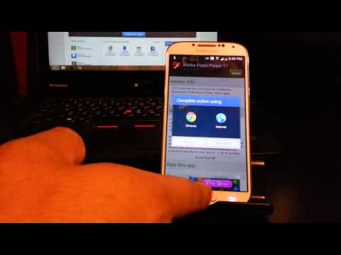 How to install flash player on galaxy s4.