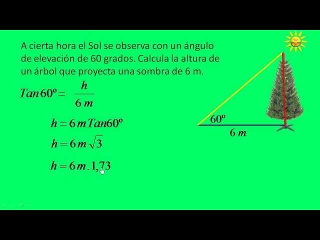 Aplicaciones de las razones trigonométricas. Parte 5
