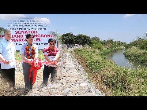 Sen. Bongbong Marcos - Inauguration of Pinmaludpod, Urdaneta Pangasinan Mitura river 4-Apr-2014