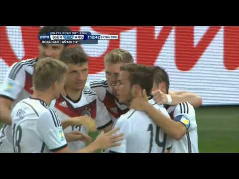 Mario Götze Germany vs Argentina 2014 FIFA World Cup Goal.