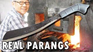 How blacksmiths make parang machetes in Malaysia