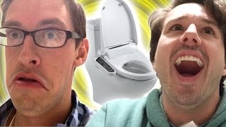 Two Guys Try A Future Toilet