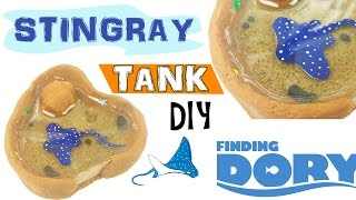MINI STINGRAY TANK FINDING DORY Polymer Clay & Resin Tutorial