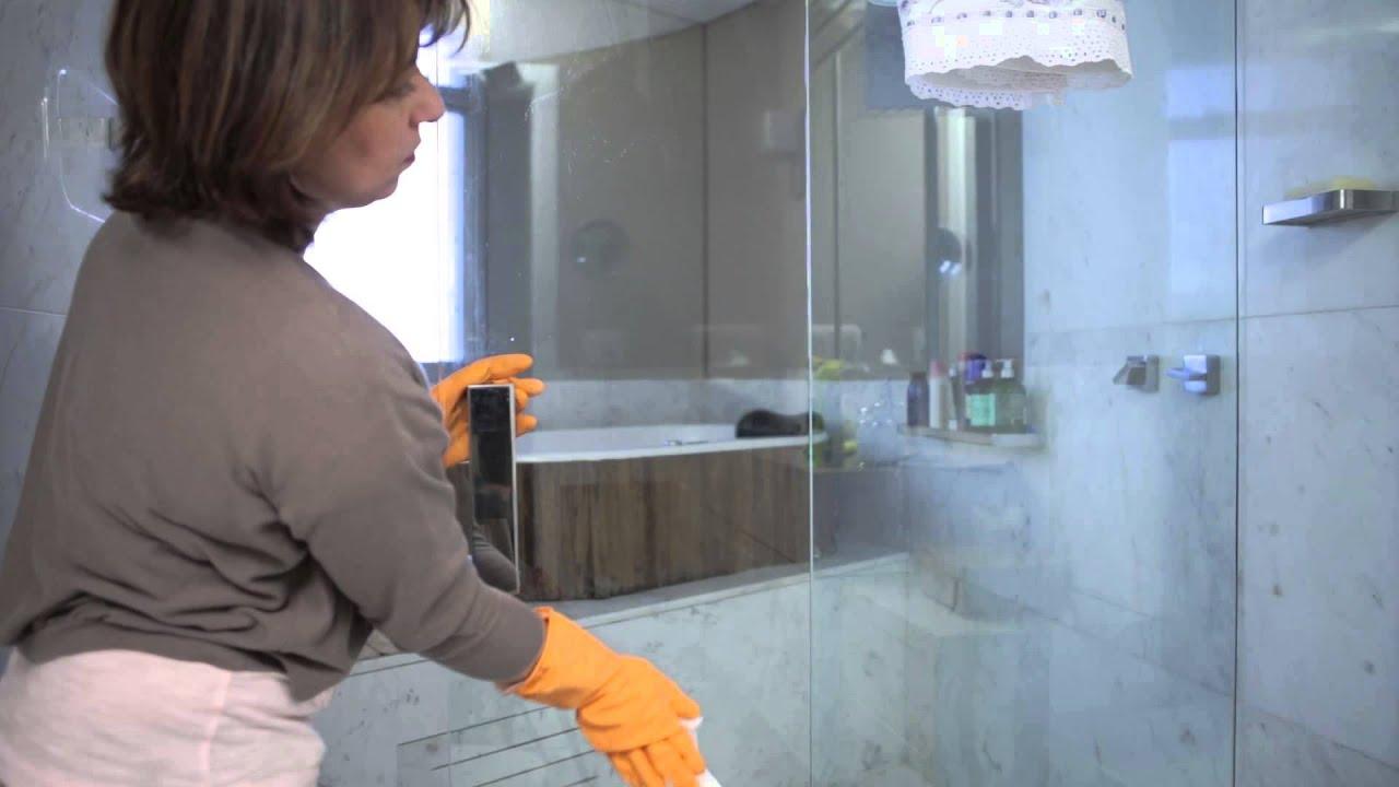 Como limpar o Box do Banheiro   #C36708 1920x1080 Banheiro Branco Como Limpar