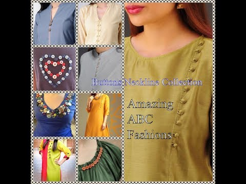 Creative Buttons Neckline designs | Amazing Fashion Collection