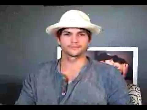 Ashton Kutcher Talks Twitter and . . . Ted Turner? Video