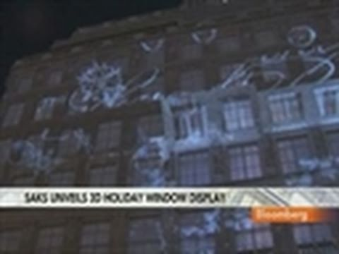 Schaefer Discusses Saks's Digital 3-D Holiday Display: Video