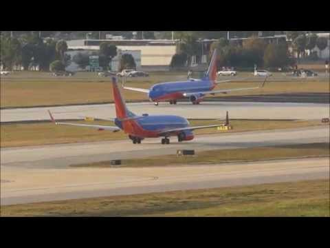 [HD] Southwest Airlines 737-800 takeoff from Tampa Airport