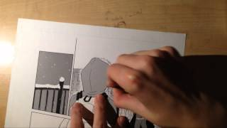 Drawing Manga Page (1) - INK & TONES