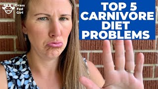 My Top 5 Carnivore Diet Problems: weight loss, dairy, electrolytes, sleep, constipation, friends