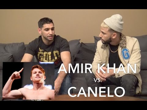 AMIR KHAN vs. CANELO BOXING FIGHT!! (INTERVIEW)
