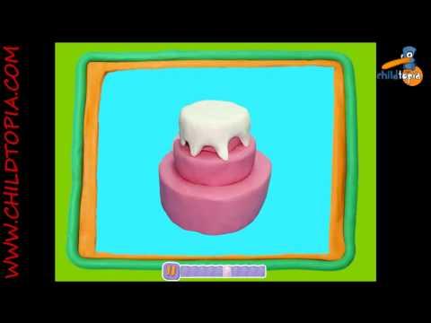 Manualidades con Plastilina: pastel de plastilina